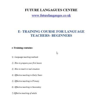 E-training Course for Language Teacher