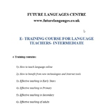 E-training Course for Language Teachers- Intermediate