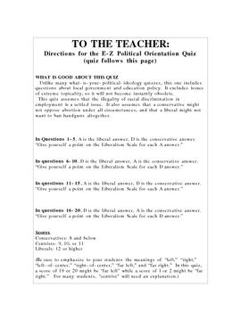 E-Z Political Orientation Quiz