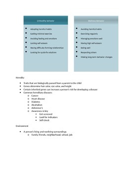 E2020 Personal Health and Wellness