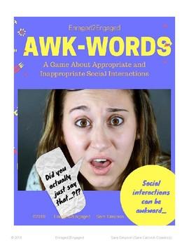 E2E Awk-Words: A Printable SECD Card Game