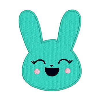 E4 Bunny Emoji Digital Machine Embroidery Design,Emoji Embroider