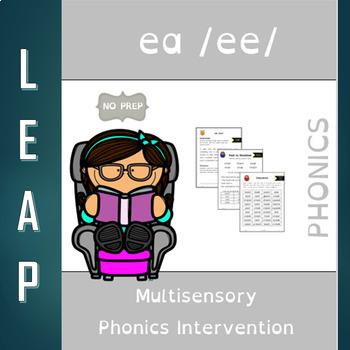 EA - Long Vowel E - No Prep Phonics