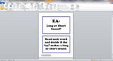 EA Long or Short Sound Task Cards