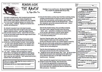 EA Poe's The Raven - Poetry Unit