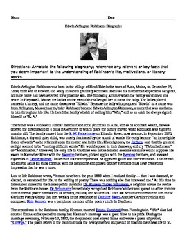 EA Robinson: Biography