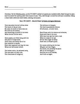 """EA Robinson: Poem """"Bewick Finzer"""""""
