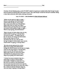 """EA Robinson: Poem """"John Evereldown"""""""