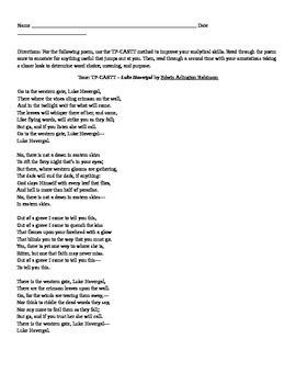 "EA Robinson: Poem ""Luke Havergal"""
