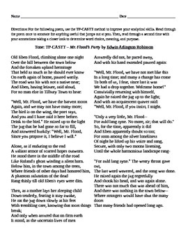 "EA Robinson: Poem ""Mr. Flood's Party"""