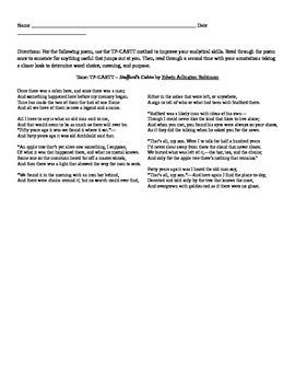"EA Robinson: Poem ""Stafford's Cabin"""