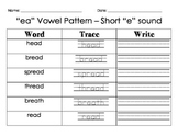 """EA"" Vowel Pattern - Short E sound"