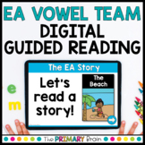 EA Vowel Team Guided Reading Boom Cards™ & Google Slides FREEBIE