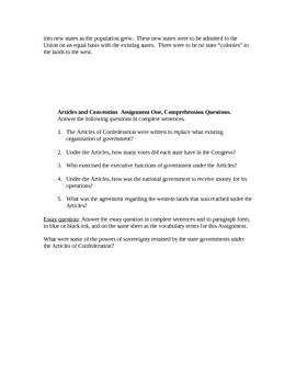 EA8 Jr High & ESL Articles & Constitutional Convention