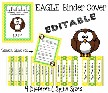 EAGLE Binder Cover, Student Guidelines & 4 Different Sized Spines