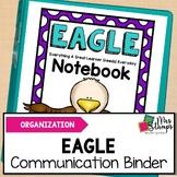Student Binder Cover | Eagle Themed Communication Binder