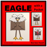 EAGLE with a POCKET  (Veterans Day Color Cut Paste craft)