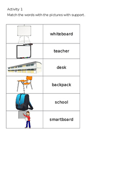 EAL Literacy Topic 1 - Classroom
