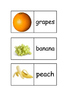EAL /ESL/EFL/ELL/ ELD Fruit dominoes - match words to pictures