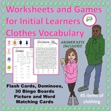 EAL / ESL/ EFL / ELL/ ELD Worksheets and Games for Initial Learners Clothes