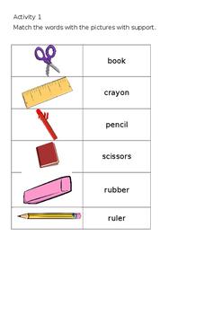 EAL Literacy Topic 2 - Classroom