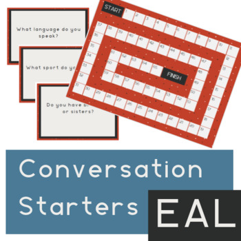 EAL - Get to know you board game & conversation prompts