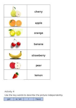 EAL Literacy Topic 11 - Fruit
