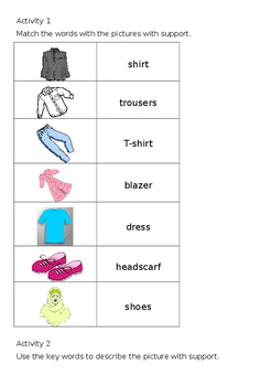 EAL Literacy Topic 16 - Clothes