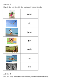 EAL Literacy Topic 17 - Actions