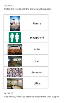 EAL Literacy Topic 3 - Around the school