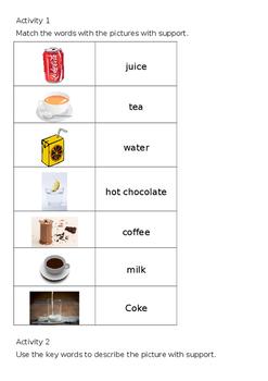 EAL Literacy Topic 6 - Drinks