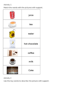 EAL Literacy Topic 6 - Drinks