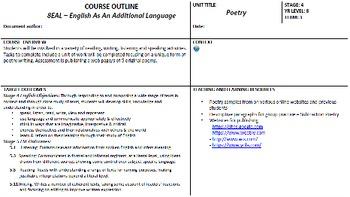 EAL Poetry Unit