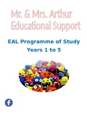 EAL Programme of Study - Years 1 to 5
