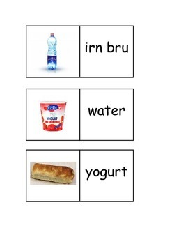 EAL/ESL/ELD/EFL Game -  Food and drinks dominoes with pictures and words