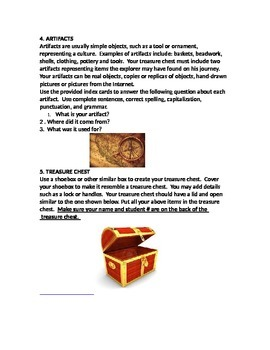 EARLY EXPLORERS TREASURE CHEST PROJECT