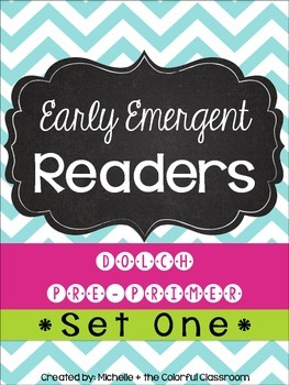 EARLY Emergent Readers: Dolch Pre-Primer Sight Words {{SET ONE}}