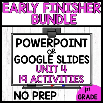 EARLY FINISHER ACTIVITIES | MODULE 4 BUNDLE
