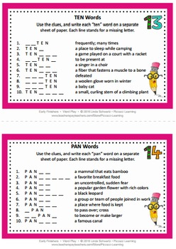 EARLY FINISHER ACTIVITIES • WORD PLAY • GRADES 4–6