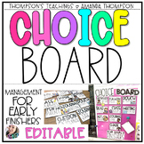 CHOICE BOARD EDITABLE | EARLY FINISHERS