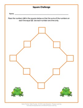 EARLY FINISHER MATH PUZZLES • Great for BACK-TO-SCHOOL Fun!