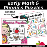 EARLY MATH AND PHONICS PUZZLES BUNDLE