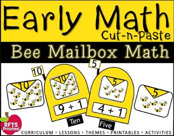 EARLY MATH - BEE MAIL (Counting 1-12 Cut-n-Paste)