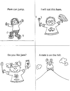EARLY READERS' WORD-FAMILY Mini-Books (an - am)