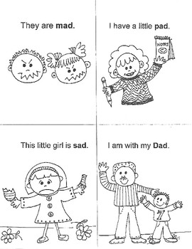EARLY READERS' WORD-FAMILY Mini-Books (ap - ab - ad)