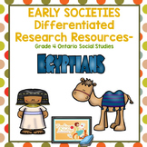 EARLY SOCIETIES Research Resources- Grade 4 Ontario Social Studies