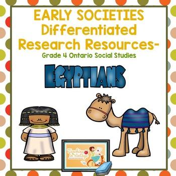 EARLY SOCIETIES Research Resources- Grade 4 Ontario Social