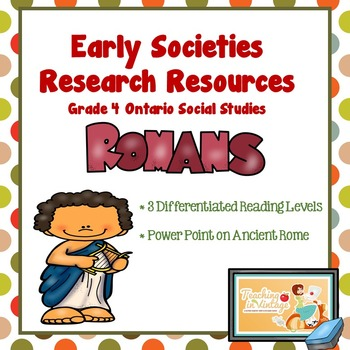 EARLY SOCIETIES Research Resources- Grade 4 Ontario Social Studies Rome
