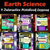 EARTH AND SPACE SCIENCE LESSON BUNDLE- ROCKS, PLATE TECTONICS, EARTHQUAKES