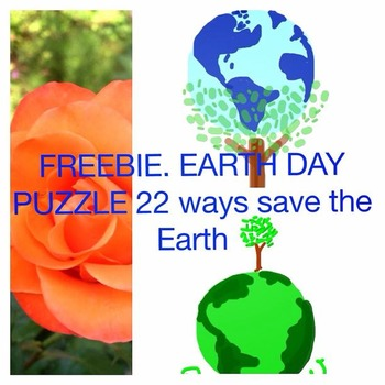 FREEBIE EARTH DAY PUZZLE  22  WAYS TO SAVE OUR PLANET